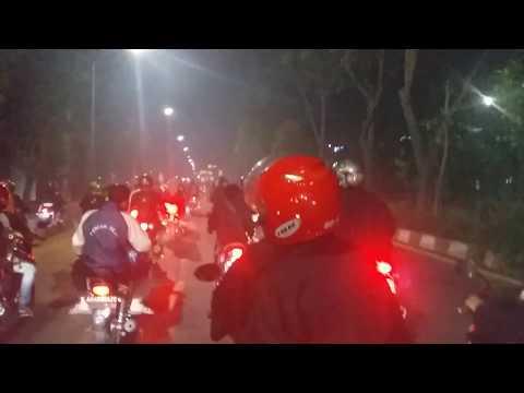Surabaya Menghitam Konvoi PSHT Bikin Surabaya Bergetar