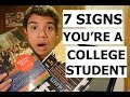 7 signs you re a college student mp3