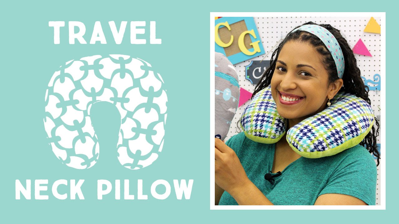 travel neck pillow easy sewing tutorial with vanessa of crafty gemini creates