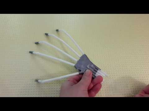 видео: рука из соломинок