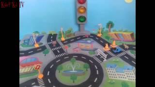 Мультфильм для детей. Машинка Бибик собирает пазлы. Животные!!!