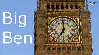 BIG BEN strikes 7 o'clock. Die Glocken läuten 7:00 Uhr in London