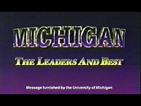 1998 Rose Bowl University of Michigan Commercial