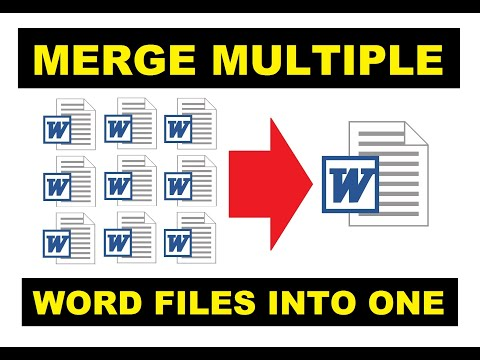 How To Merge Word Documents Into One File 2020 | Combine Multiple Word Files | Easy & Quick