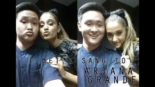 Fan from MALAYSIA sings for ARIANA GRANDE in JAPAN!