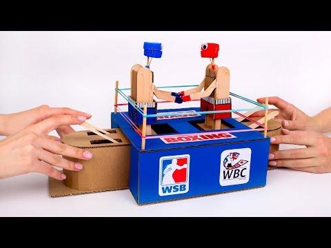 Как Сделать Настольную Игру «Бокс» из Картона Своими Руками