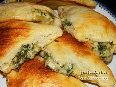 Слоеные пирожки с сыром и зеленью по восточному
