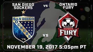 San Diego Sockers vs Ontario Fury thumbnail