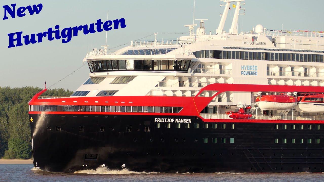 FRIDTJOF NANSEN Erstanlauf in Hamburg des neuen HURTIGRUTEN Expeditionsschiffs am 26.06.2020