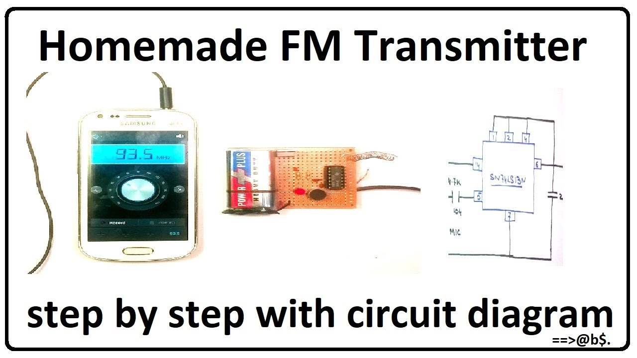 How To Make Fm Transmitter Easy At Home Without Coil With Circuit Diagram