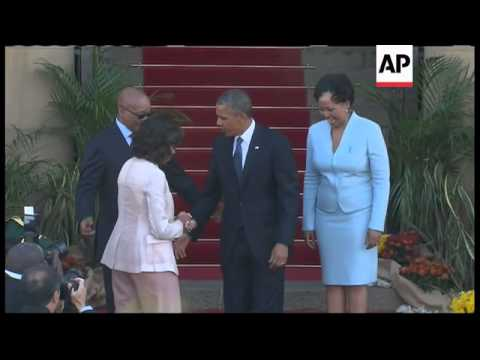 US President Obama arrives in Pretoria, meets South African President Zuma