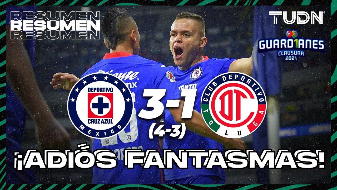 Cruz Azul vs Toluca: Liguilla MX (3-1): GOLES Y RESUMEN