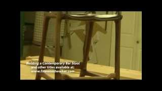 Building A Maloof Inspired Bar Stool Dvd - A Woodworking Project
