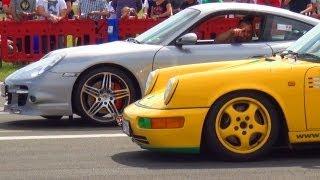 Porsche 911 Turbo 997 vs Porsche 964 RS - 1/4 Mile Drag Race Viertelmeile Rennen