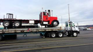 Horizon lines loading a  Peterbilt going to Hawaii