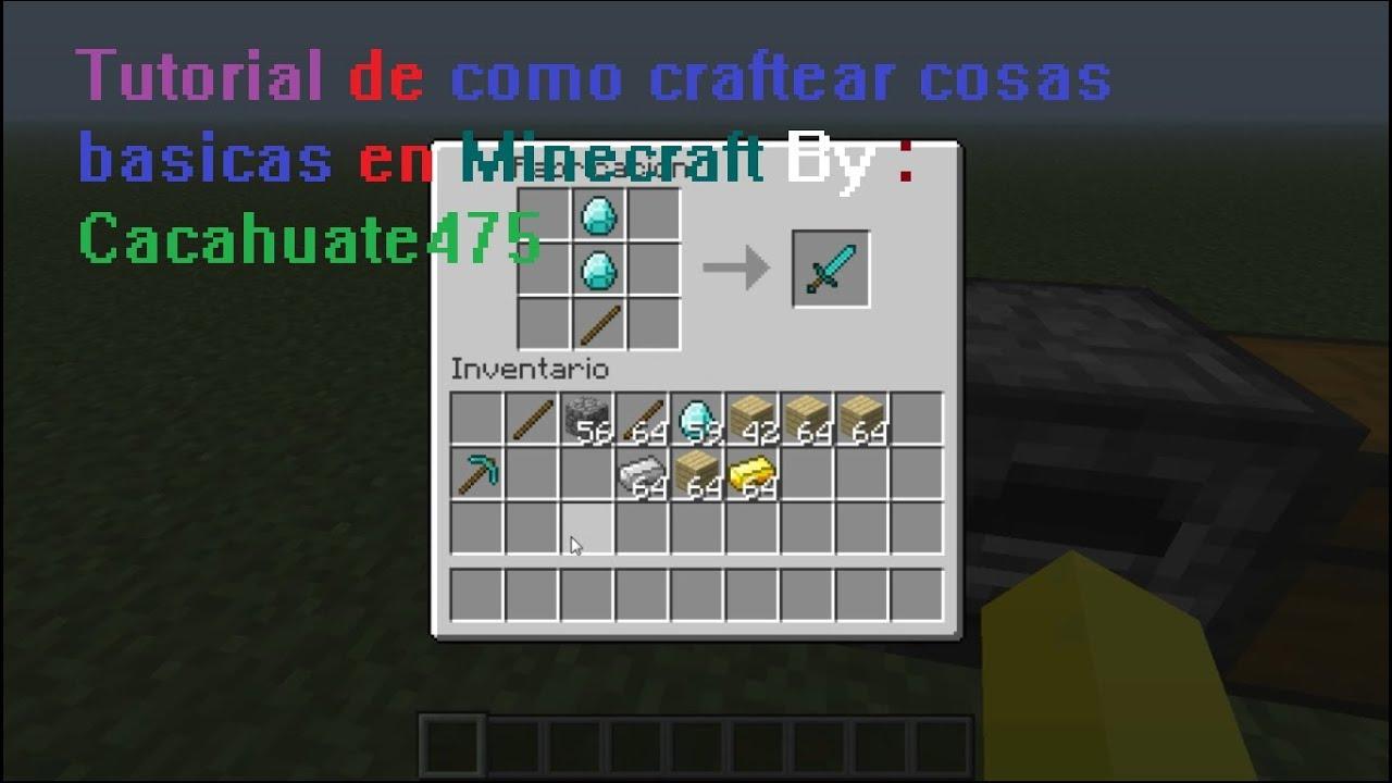Como craftear cosas basicas en minecraft youtube for Como hacer muebles en minecraft