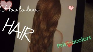 ♡ how to draw hair with colored pencils step by step ♡ ft. Prismacolors