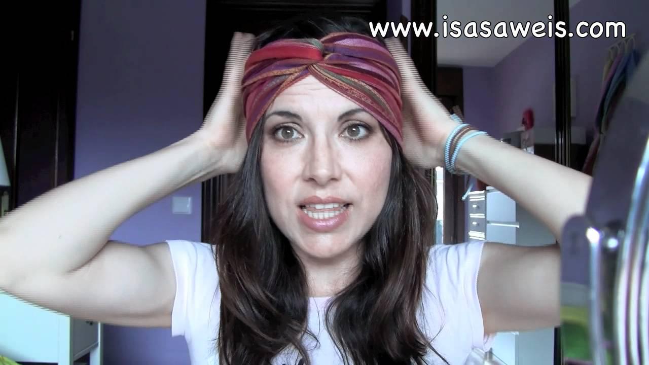 C mo hacer una diadema turbante youtube - Como hacer diademas ...