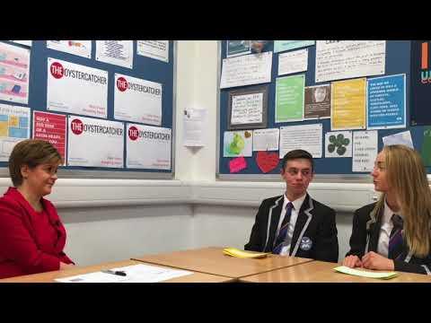 Oystercatcher interviews... First Minister of Scotland, Nicola Sturgeon MSP