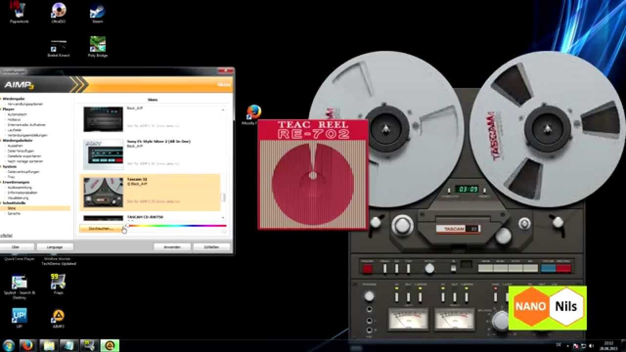 Best MP3 player vintage skin for PC ? ★ AIMP3 ★ - YouTube