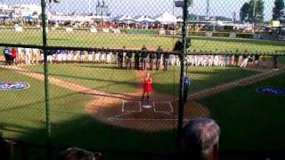 National Anthem for Little League World Series Championship Nor Cal vs. So Cal 2011