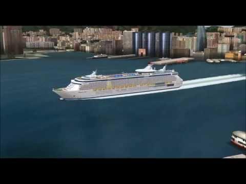 CRUISE SHIP FREEDOM OF THE SEAS AT HONG KONG PART2 FS9 HD
