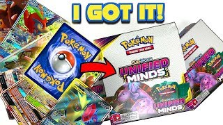 BEST RAINBOW RARE POKEMON CARD EVER (Not Mewtwo & Mew) in a UNIFIED MINDS BOOSTER BOX OPENING!