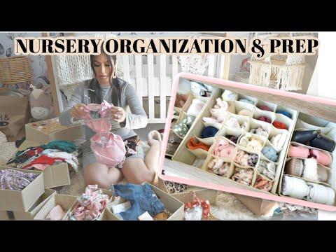 Baby NURSERY ORGANIZATION & PREP WITH ME *AMAZON ORGANIZATION*