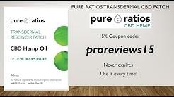 Pure Ratios CBD Patch - 15% Coupon!