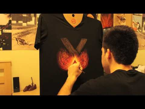 Sex on Fire - Hand-painted T-shirt by Cherry Sunset