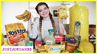 24 Hours Eating Only Yellow Foods / JustJordan33