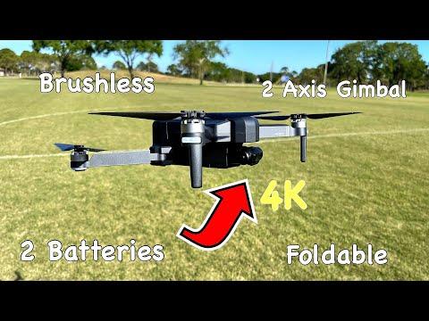 DeeRC DE22 Pro - [$350?] - 4K - Foldable - 2 Batteries - Case - 2 Axis Gimbal - Drone!