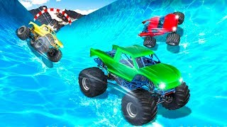 Xtreme Monster Truck Waterslide Race - Gameplay Android game
