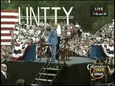 Barack Obama and Hillary Clinton in Unity, NH