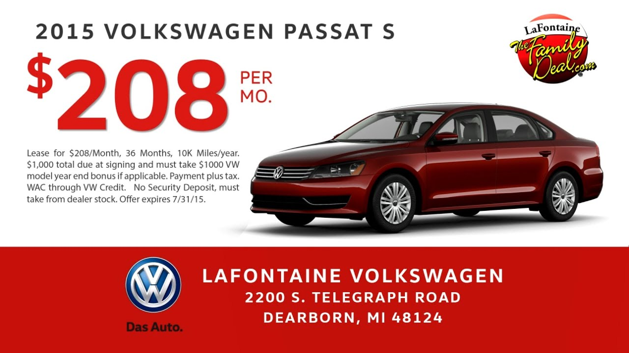July Lease Specials at LaFontaine Volkswagen | #DriveThroughSummer
