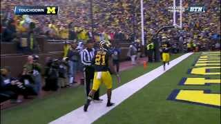 2013 Indiana at Michigan Football Highlights
