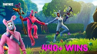 "Fortnite:Battle Royale ""Bunny Brawler Skin Gameplay"" New Skins Coming soon 440+ wins"
