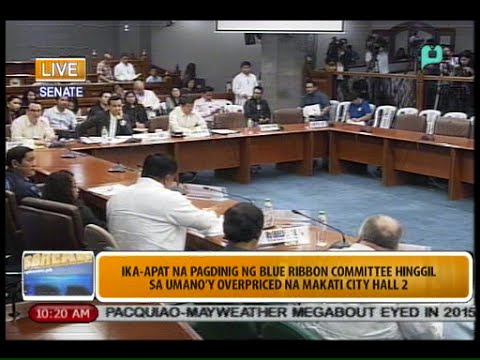 Senate Inquiry on the 'Overpriced' Makati City Hall 2 - PTV Special Coverage [09/04/14]
