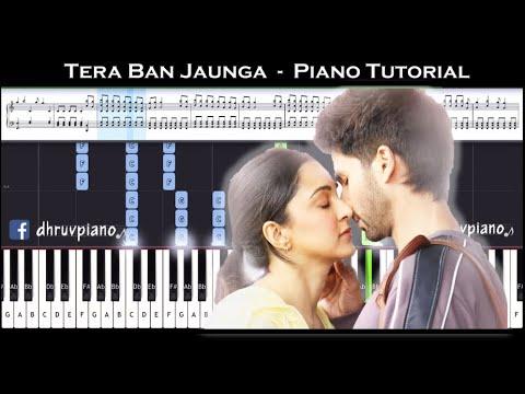 ♫-tera-ban-jaunga-(kabir-singh)-||-🎹-piano-tutorial-+-sheet-music-(with-english-notes)-+-midi