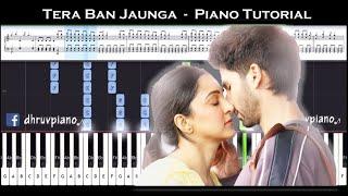 tera-ban-jaunga-kabir-singh-piano-tutorial-sheet-music-with-english-notes-midi