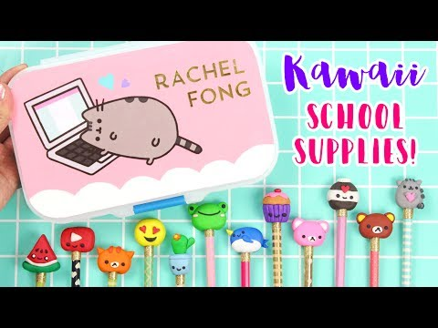 How to DIY Kawaii School Supplies: Pencils + Pencil Case!