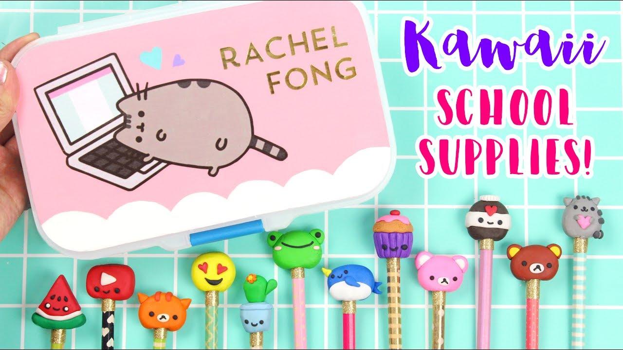 How To Diy Kawaii School Supplies Pencils Pencil Case