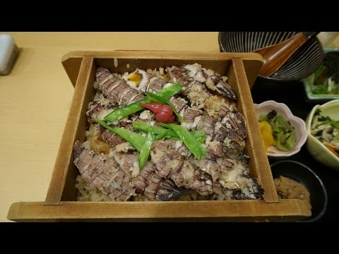"""復興めし「わたり あら浜」の「しゃこめし」Squilla seasoned Rice of """"Watari Arahama""""."""