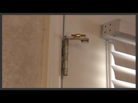& Hinge pin door stop installation - YouTube