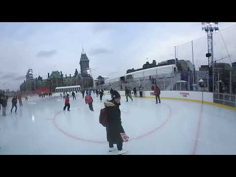 Skating rink opens on Parliament Hill to celebrate Canada 150 | 360 video