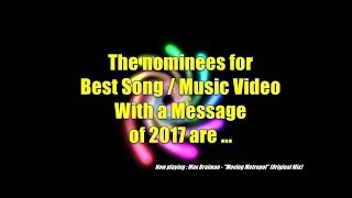 GMC Awards 2017 - Nominations Best Song / Music Video With a Message