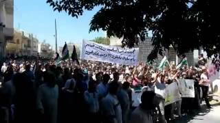14 9 Kafaranbel Idlib أوغاريت كفرنبل ادلب , مظاهرات جمعة ادلب مقبرة الدبابات ورمز الإنتصارات
