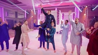The Groomsmen and Groom Dance Performance in Indian Wedding
