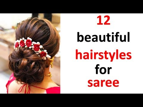 12 gorgeous juda hairstyle with saree || hairstyle for party || bun hairstyles || hair style girl