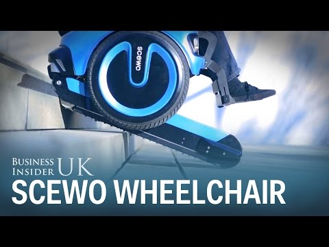 Engineers showcase the latest model of wheelchair which climbs stairs with ease